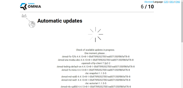 Install wizard performing automatic updates