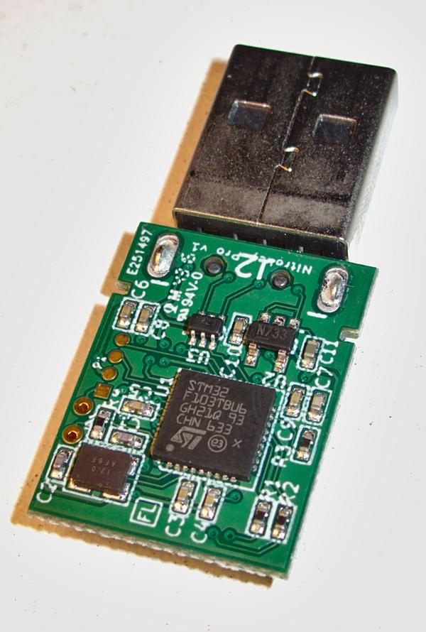 Nitrokey Pro with STM32F103TBU6 MCU